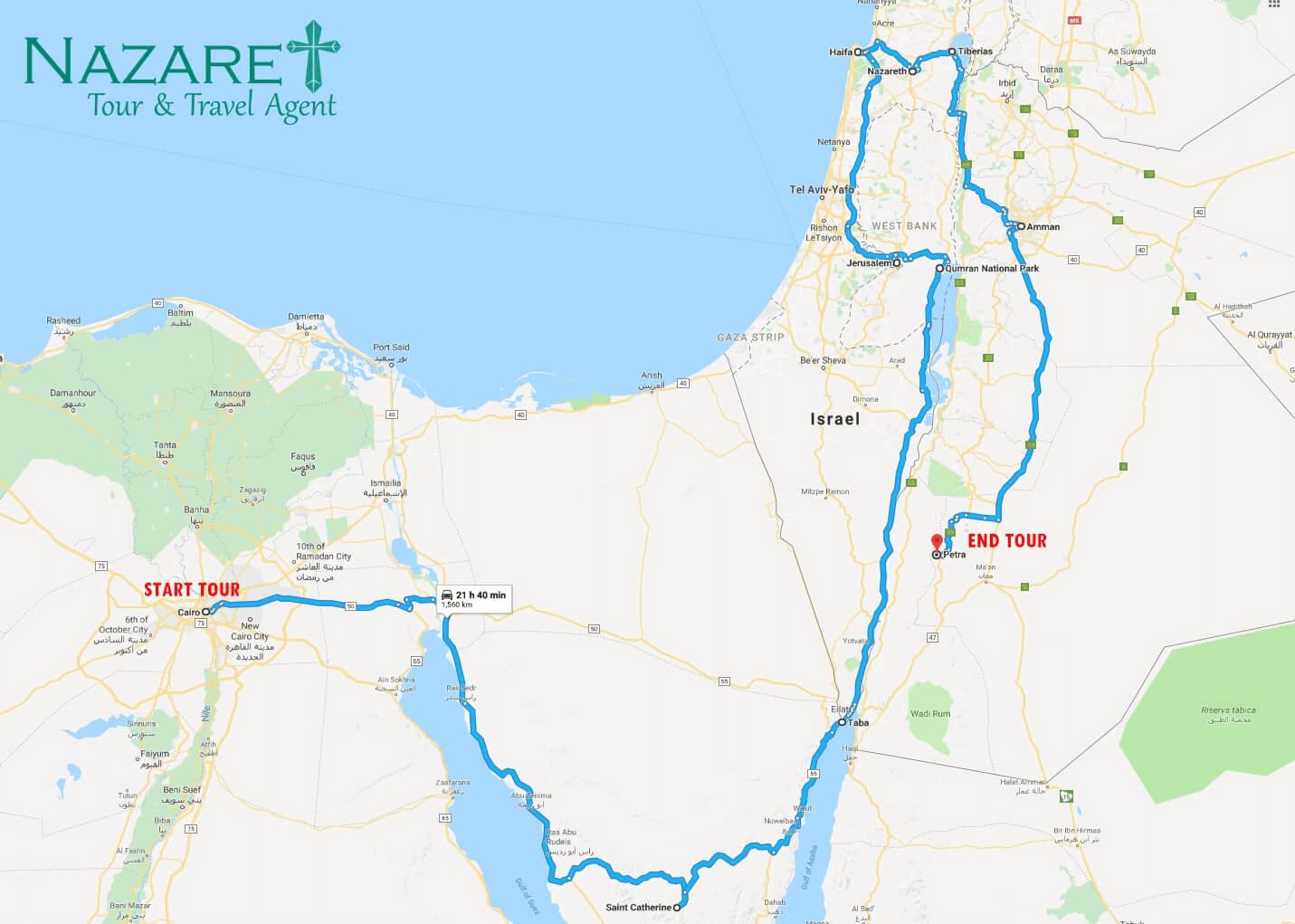 Rute Mesir Israel Jordan + Taba+ Petra