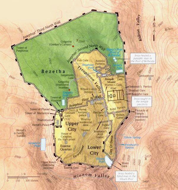 Lokasi Bukit Golgota