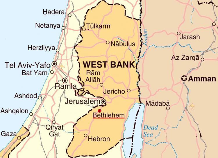 Peta Kota Bethlehem