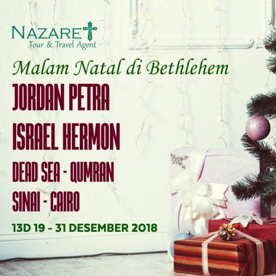 TOUR HOLYLAND NATAL 2018