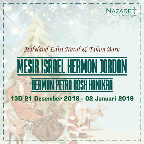 Tour Israel Natal 2018
