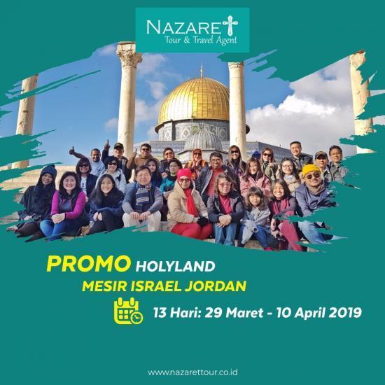 Holyland Tour 12 Hari Petra 2019