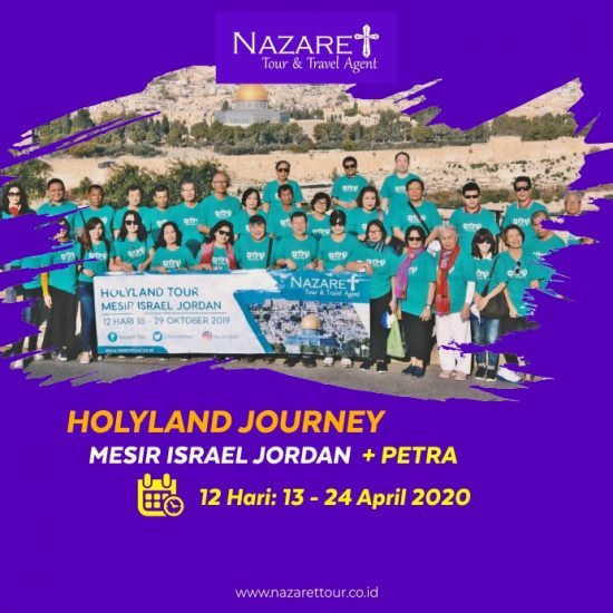 paket holyland tour april 2020