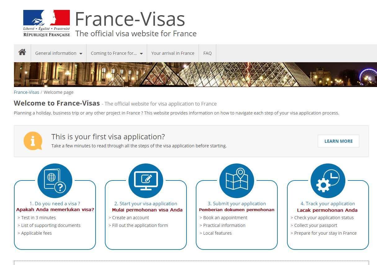 Cara Mengurus Visa Perancis