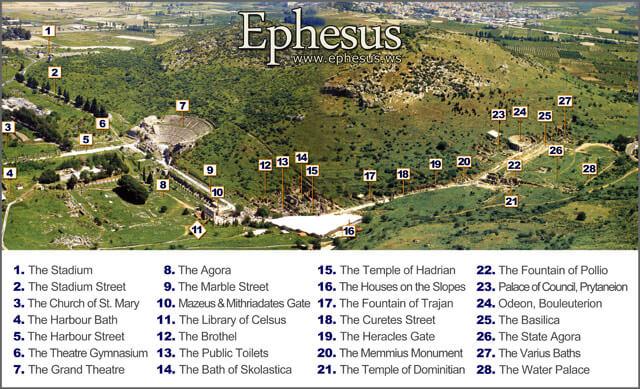 peta efesus kuno