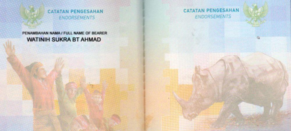 penambahan nama paspor